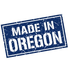 Made in oregon stamp vector