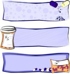 medicine banners vector image