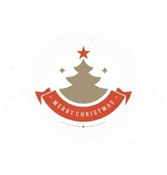 Merry Christmas Greeting Card Typography and vector image