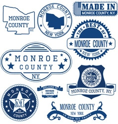 Monroe county new york vector