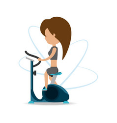 Person do exercise to healthy lifestyle vector