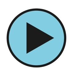 play player button icon vector image