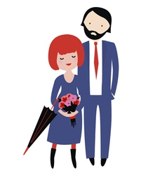 Romantic couple from London vector image