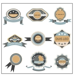 Set retro emblem ribbon vector image vector image
