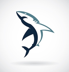 Shark logo on a white background vector image