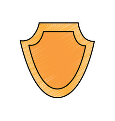 shield protection emblem empty icon vector image