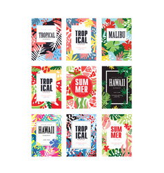 summer banners set tropical vacation and holidays vector image