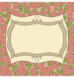 Vintage frame floral background vector image