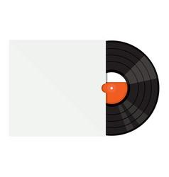 vinyl gramophone record vector image vector image