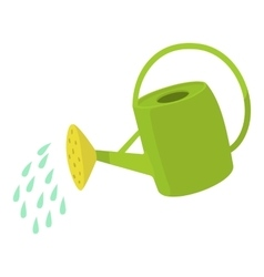 Watering can icon cartoon style vector