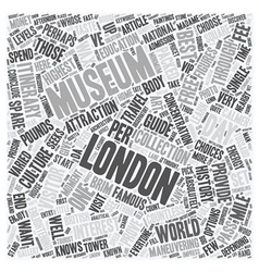 One day london travel museum guide text background vector