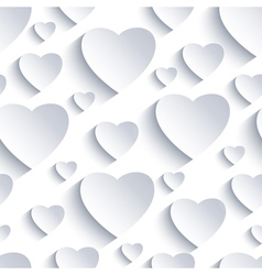 Valentine seamless background with white grey 3d vector image