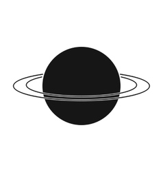 Uranus icon in black style isolated on white vector