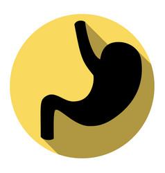 human anatomy stomach  flat black icon vector image