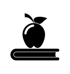 Apple book school symbol pictogram vector