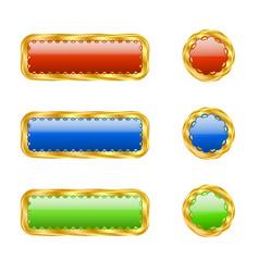 six openwork buttons vector image