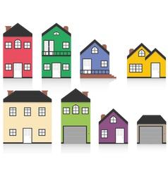 Colourful home collection vector