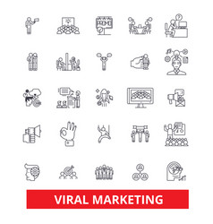 Viral word of mouth social media advertising vector