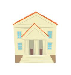 Justice court building cartoon vector