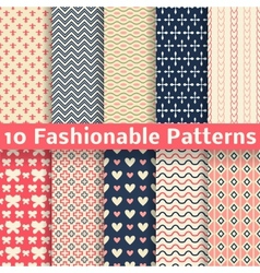 Fashionable seamless patterns tiling Retro vector image