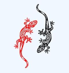 Lizard ornate vector