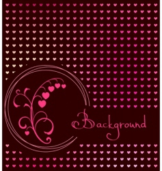 red heart floral vector background vector image