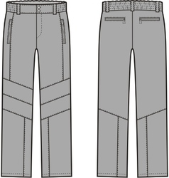 Work pants vector