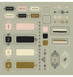 Vintage style design elements vector