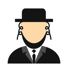 Rabbi flat icon vector