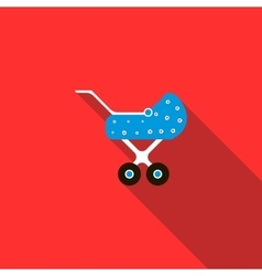 Children stroller icon flat style vector