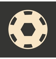 Flat in black and white mobile application ball vector