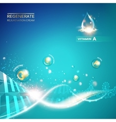Regenerate cream and vitamin vector