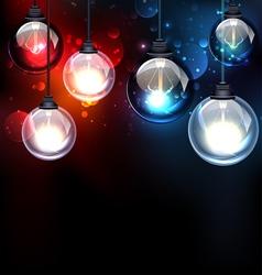 Round glass light bulbs vector