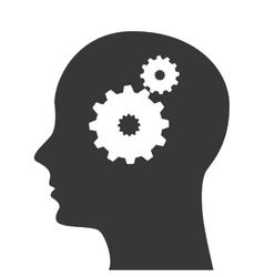 Head profile mind icon vector