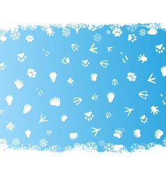 Animal prints in snow vector
