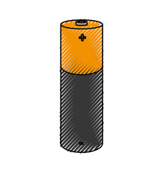Battery lithium isolated icon vector
