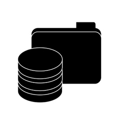 Black data center related icon image vector