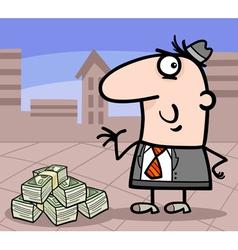 Businessman with money cartoon vector