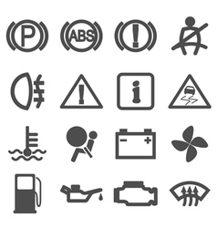 car driving icons vector image vector image