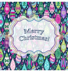 Christmas colorful greeting card vector image vector image