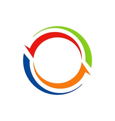 circle arrow abstract color logo vector image