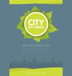 City go green flyer template vector