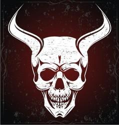 Devil skulls vector