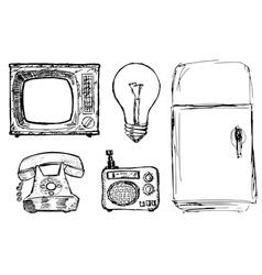 domestic technique vector image