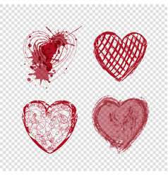 doodle hearts valentines day love holiday vector image vector image