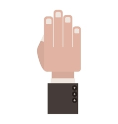 Front view hand with formal suit sleeve vector