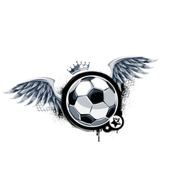 Graffiti image with soccer ball vector