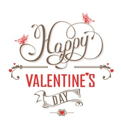 Happy valentines day vintage label vector