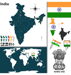 India map world vector
