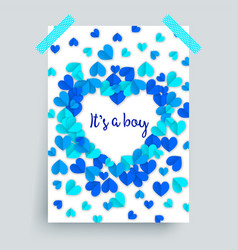 Its a boy blue baby shower vector